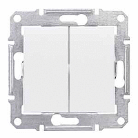 2-circuit Switch IP44 10 AX - 250 V AC, White