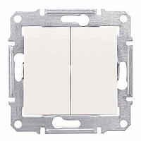 2-circuit Switch IP44 10 AX - 250 V AC, Cream