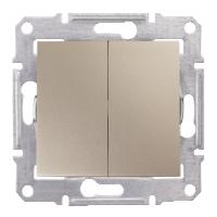2-circuit Switch IP44 10 AX - 250 V AC, Titanium