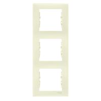 Cover Frame 3 gangs, Beige, Vertical