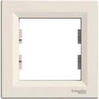 Cover Frame 1 gang, Cream, Horizontal