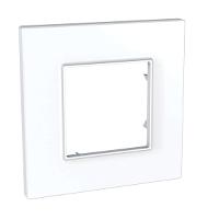 Cover Frame Unica Quadro, White, 1 gang