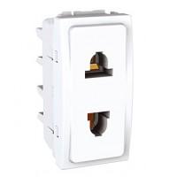 Euroamerican Socket-outlet 10/16 A, 2P, White
