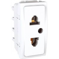 Euroamerican Socket-outlet, 10/16 A, 2P+E, White