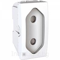 Euroamerican Socket-outlet 10 A, 2P, shuttered, White