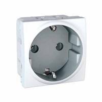 SCHUKO® Socket-outlet 10/16 A, 2P+E, White