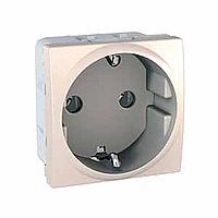 SCHUKO® Socket-outlet 10/16 A, 2P+E, Ivory