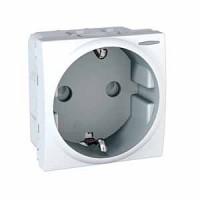 SCHUKO® Socket-outlet 10/16 A, 2P+E, shuttered, White