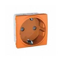 SCHUKO® Socket-outlet 10/16 A, 2P+E, shuttered, Orange
