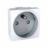 French Socket-outlet 10/16 A, 2P+E, shuttered, White