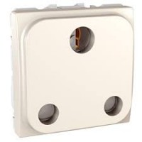 British Socket-outlet 16 A, 2P+E, shuttered, Ivory