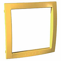 Decorative Frame Unica Colors, Yellow, 1 gang