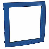 Decorative Frame Unica Colors, Blue, 1 gang