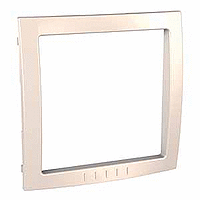 Decorative Frame Unica Colors, Ivory, 1 gang