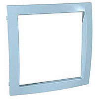 Decorative Frame Unica Colors, Pastry blue, 1 gang