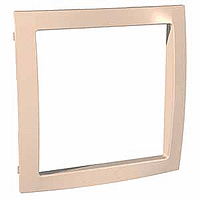 Decorative Frame Unica Colors, Beige, 1 gang