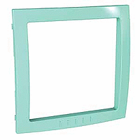 Decorative Frame Unica Colors, Pastel green, 1 gang