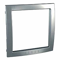 Decorative Frame Unica Colors, Dull silver, 1 gang