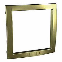 Decorative Frame Unica Colors, Golden, 1 gang