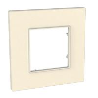 Cover Frame Unica Quadro, Pearl, 1 gang