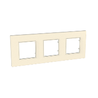 Cover Frame Unica Quadro, Pearl, 3 gangs