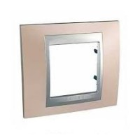 Cover Frame Unica Top, Onyx copper/Aluminium, 1 gang
