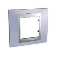 Cover Frame Unica Top, Beryl blue/Aluminium, 1 gang