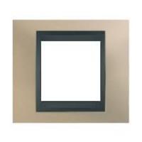 Cover Frame Unica Top, Opal titanium/Graphite, 1 gang