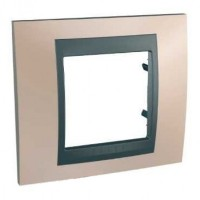 Cover Frame Unica Top, Onyx copper/Graphite, 1 gang