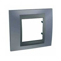 Cover Frame Unica Top, Metal grey/Graphite, 1 gang
