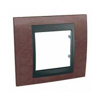Cover Frame Unica Top, Tobacco/Graphite, 1 gang