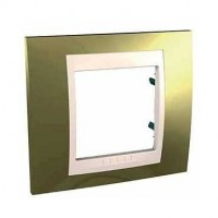 Cover Frame Unica Top, Gold/Ivory, 1 gang
