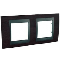 Cover Frame Unica Top, Tobacco/Graphite, 2 gangs