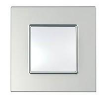 Cover Frame Unica Quadro, Silver, 1 gang