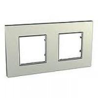 Cover Frame Unica Quadro, Titanium, 2 gangs