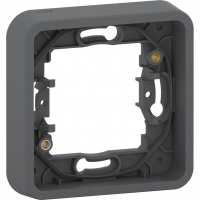 Mureva Styl - cover frame for socket outlet - 1 gang - grey