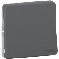 Mureva Styl - intermediate switch - flush & surface mounting - grey
