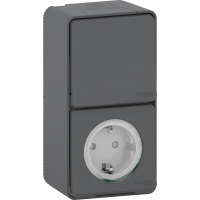 Mureva Styl - outlet sideE + 2-way switch - grey