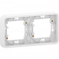 Mureva Styl - cover frame for socket outlet - 2 gangs - horizontal - white