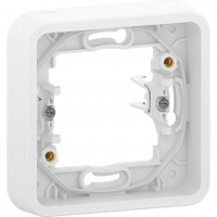 Mureva Styl - cover frame for socket outlet - 1 gang - white