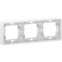 Mureva Styl - cover frame for socket outlet - 3 gangs - horizontal - white