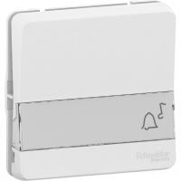 Mureva Styl - push-button label holder flush & surface mounting - white