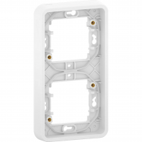 Mureva Styl - cover frame for socket outlet - 2 gangs - vertical - white