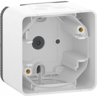 Mureva Styl - surface mounted box - 1 gang - white