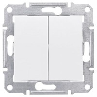 2-circuit Switch 10 AX - 250 V AC, White