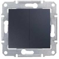 2-circuit Switch 10 AX - 250 V AC, Graphite