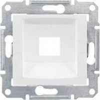 Plate for RJ45 without connectors, KRONE 5e/6, UTP, White