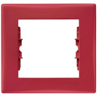 Cover Frame 1 gang, Red, Horizontal