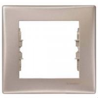 Cover Frame 1 gang, Titanium, Horizontal