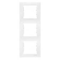 Cover Frame 3 gangs, White, Vertical